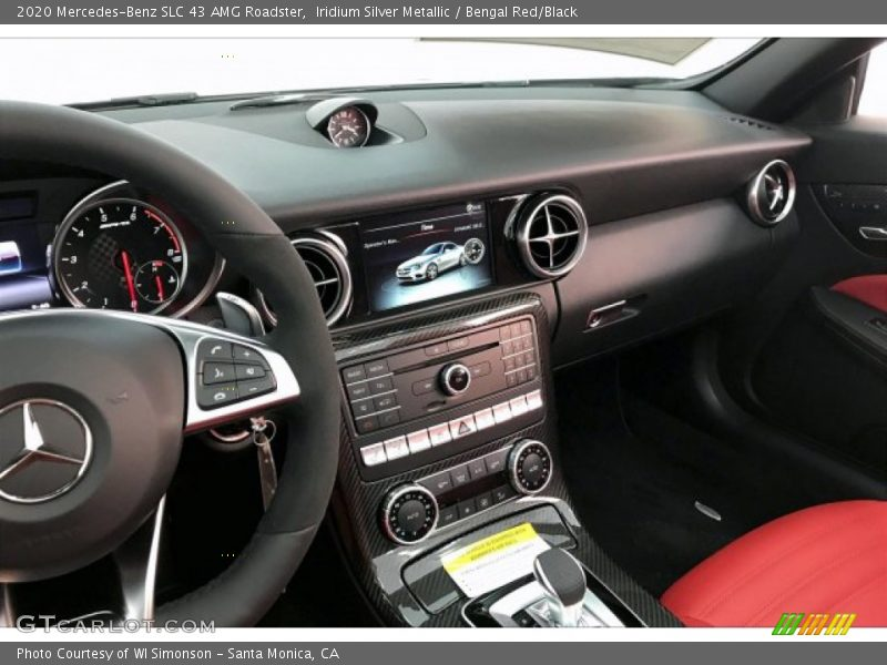 Controls of 2020 SLC 43 AMG Roadster