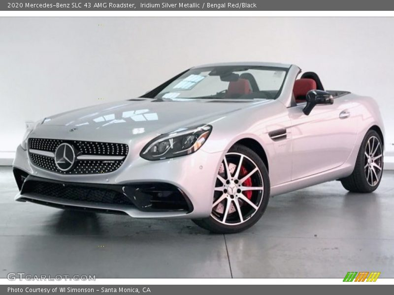 Front 3/4 View of 2020 SLC 43 AMG Roadster