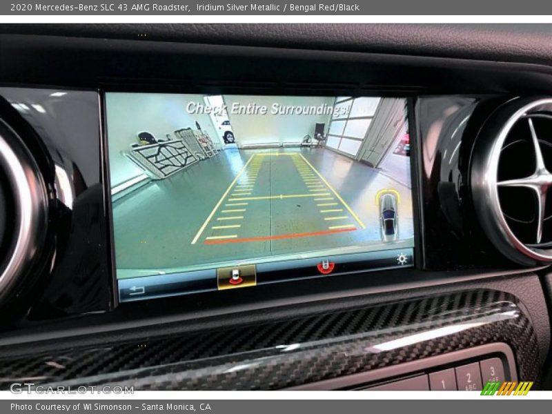 Iridium Silver Metallic / Bengal Red/Black 2020 Mercedes-Benz SLC 43 AMG Roadster