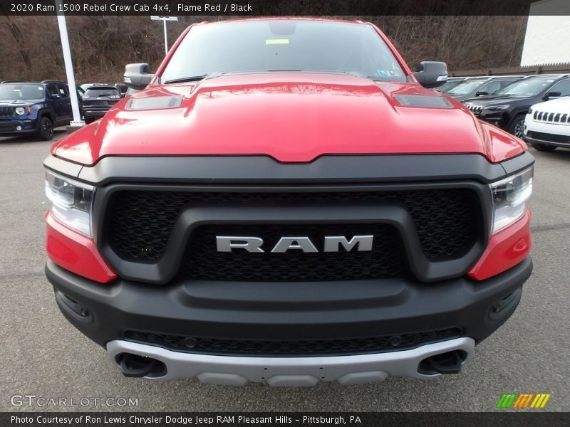 Flame Red / Black 2020 Ram 1500 Rebel Crew Cab 4x4