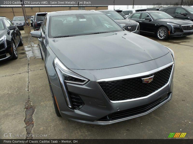 Satin Steel Metallic / Jet Black 2020 Cadillac CT6 Luxury AWD