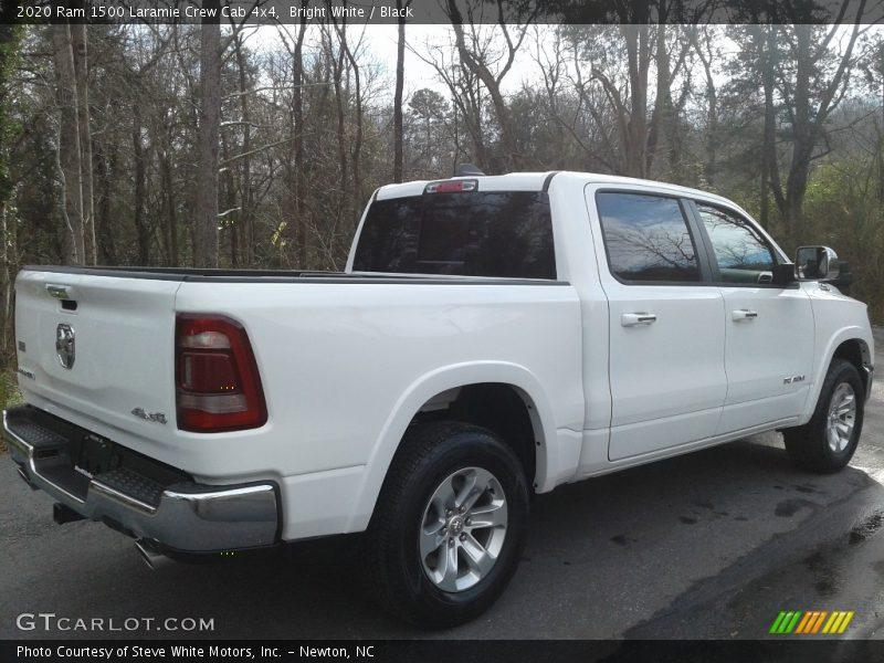Bright White / Black 2020 Ram 1500 Laramie Crew Cab 4x4