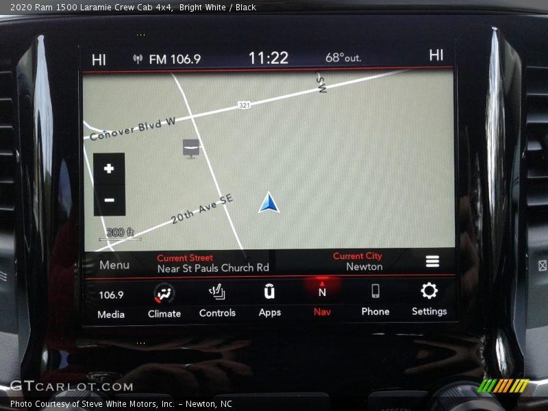 Navigation of 2020 1500 Laramie Crew Cab 4x4