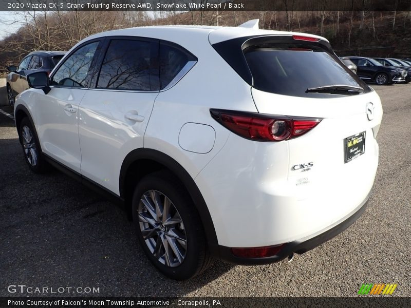 Snowflake White Pearl / Black 2020 Mazda CX-5 Grand Touring Reserve AWD