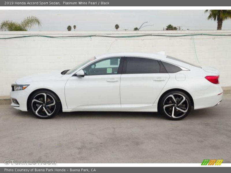 Platinum White Pearl / Black 2019 Honda Accord Sport Sedan