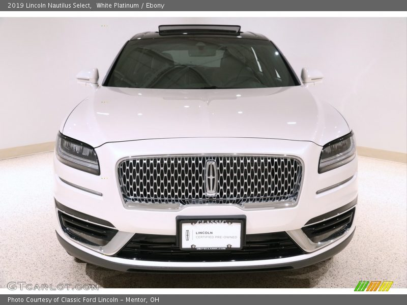 White Platinum / Ebony 2019 Lincoln Nautilus Select