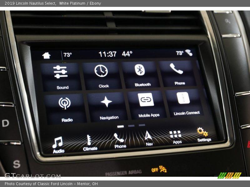 White Platinum / Ebony 2019 Lincoln Nautilus Select