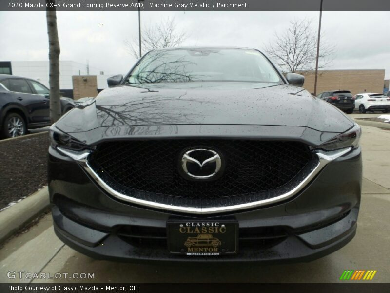 Machine Gray Metallic / Parchment 2020 Mazda CX-5 Grand Touring Reserve AWD