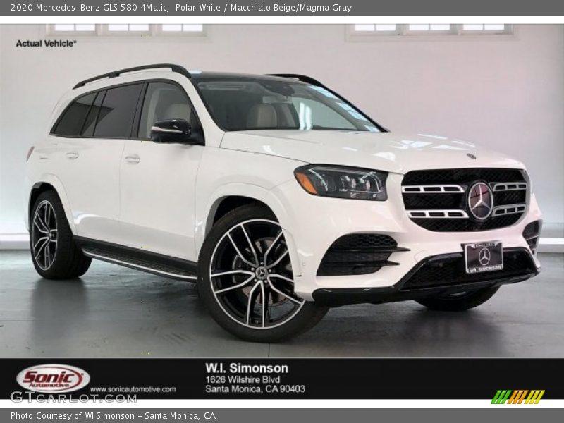 Polar White / Macchiato Beige/Magma Gray 2020 Mercedes-Benz GLS 580 4Matic