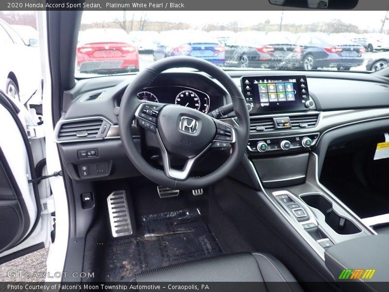 Platinum White Pearl / Black 2020 Honda Accord Sport Sedan