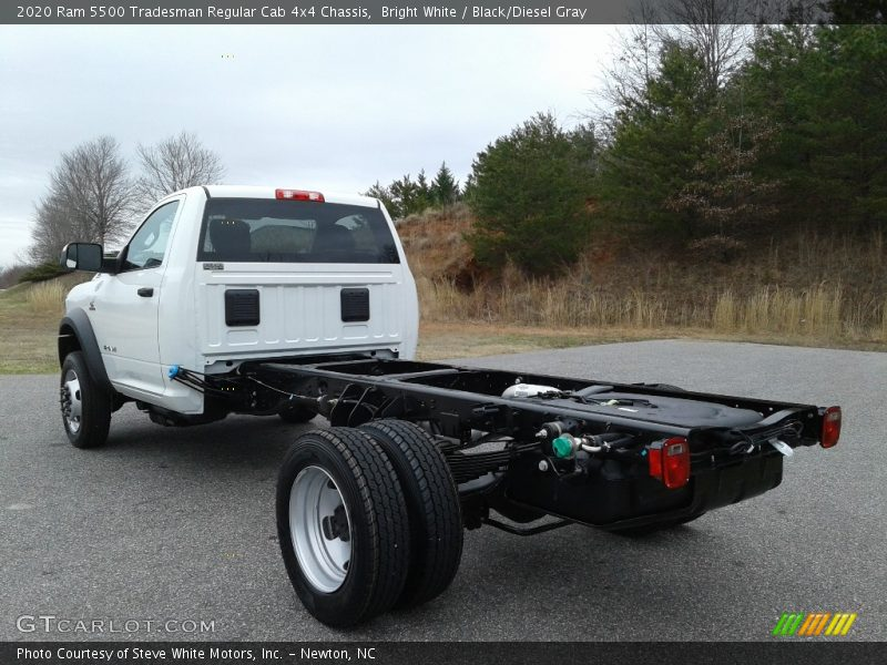 Bright White / Black/Diesel Gray 2020 Ram 5500 Tradesman Regular Cab 4x4 Chassis