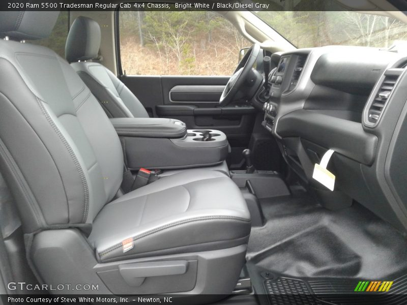 Front Seat of 2020 5500 Tradesman Regular Cab 4x4 Chassis