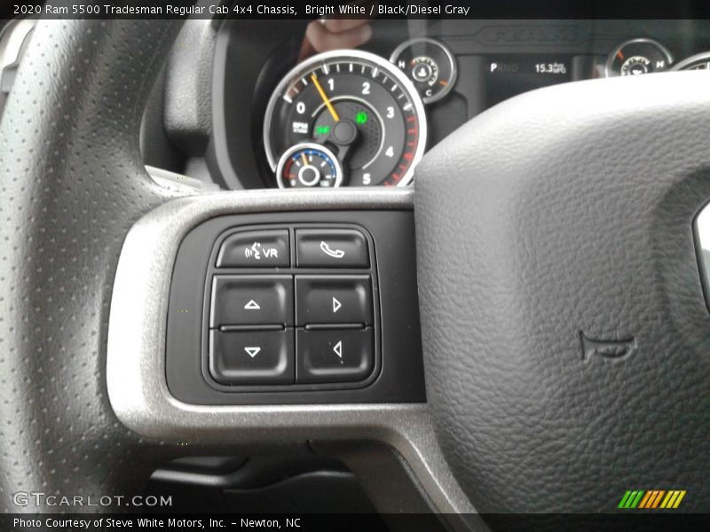 2020 5500 Tradesman Regular Cab 4x4 Chassis Steering Wheel
