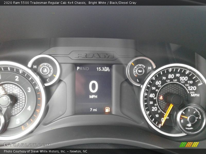 2020 5500 Tradesman Regular Cab 4x4 Chassis Tradesman Regular Cab 4x4 Chassis Gauges