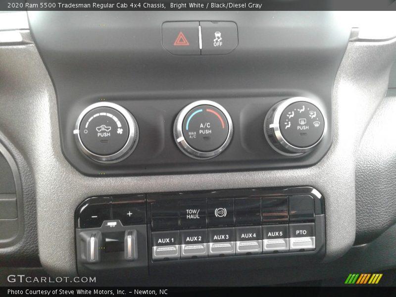 Controls of 2020 5500 Tradesman Regular Cab 4x4 Chassis