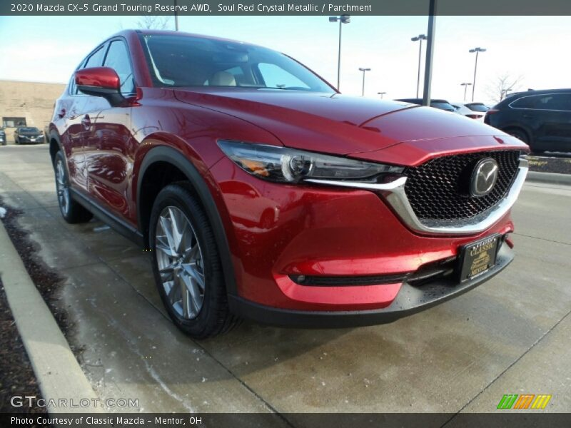 Soul Red Crystal Metallic / Parchment 2020 Mazda CX-5 Grand Touring Reserve AWD