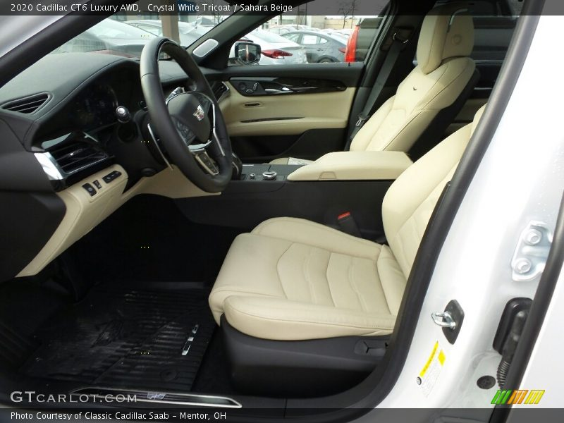Crystal White Tricoat / Sahara Beige 2020 Cadillac CT6 Luxury AWD
