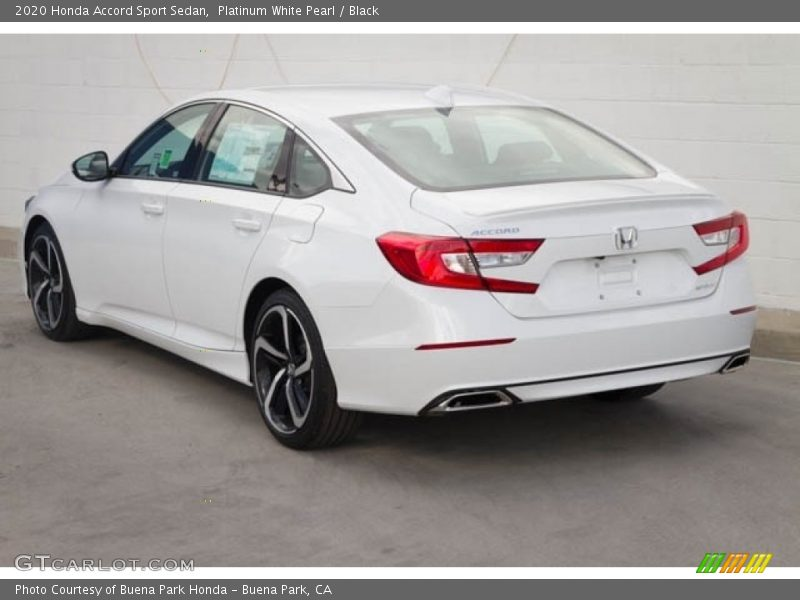 Platinum White Pearl / Black 2020 Honda Accord Sport Sedan