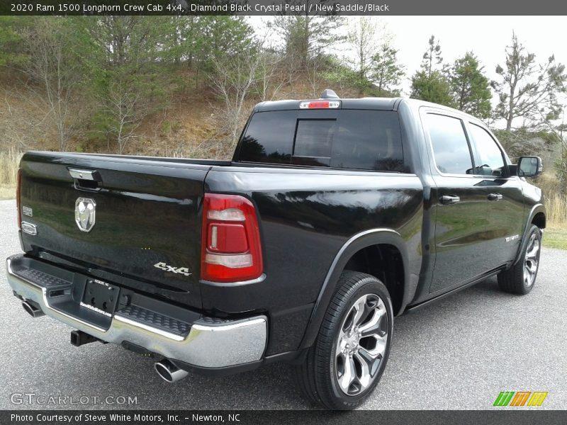 Diamond Black Crystal Pearl / New Saddle/Black 2020 Ram 1500 Longhorn Crew Cab 4x4