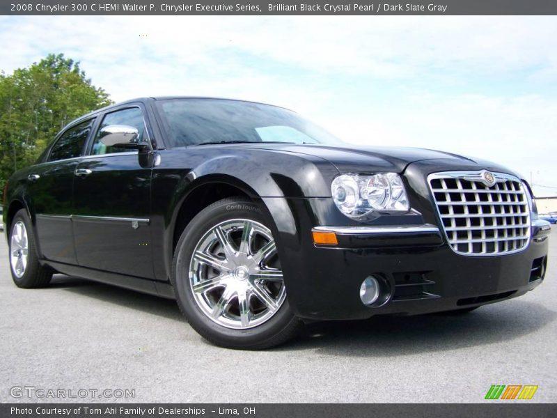 Brilliant Black Crystal Pearl / Dark Slate Gray 2008 Chrysler 300 C HEMI Walter P. Chrysler Executive Series