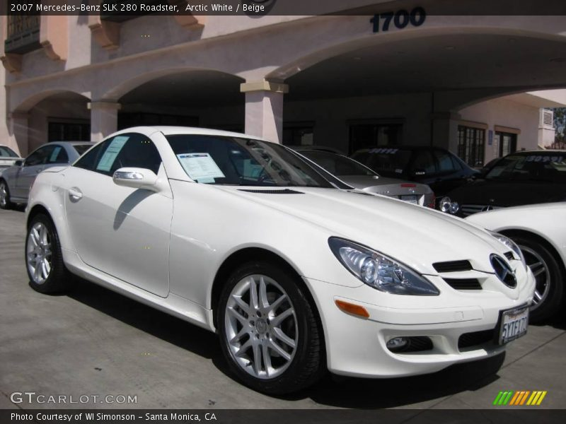 2007 mercedes benz slk 280 roadster in arctic white photo no 13798494. Black Bedroom Furniture Sets. Home Design Ideas