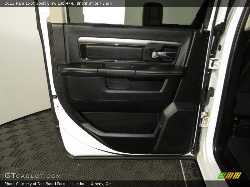 Bright White / Black 2013 Ram 1500 Sport Crew Cab 4x4