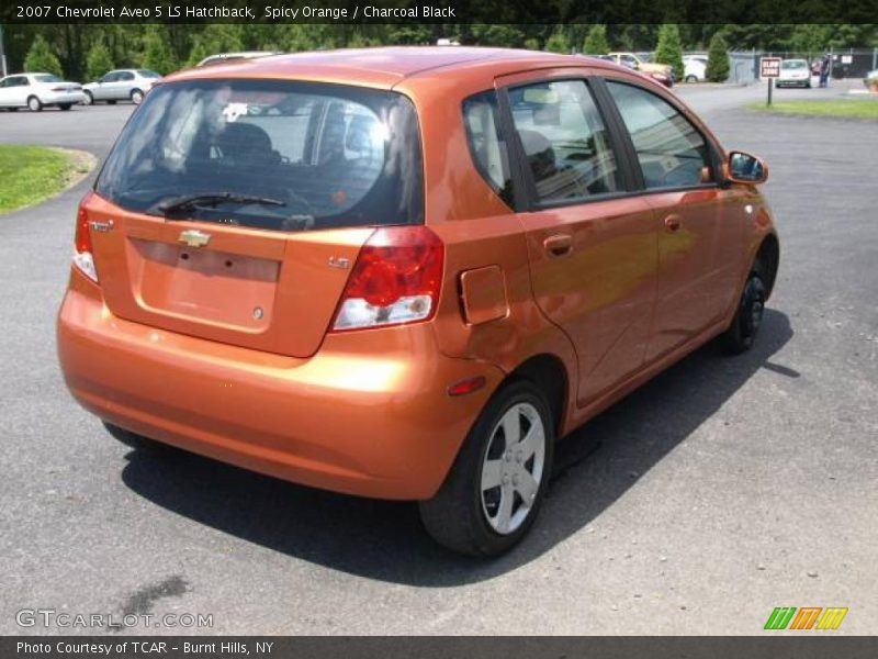 2007 chevrolet aveo 5 ls hatchback in spicy orange photo. Black Bedroom Furniture Sets. Home Design Ideas
