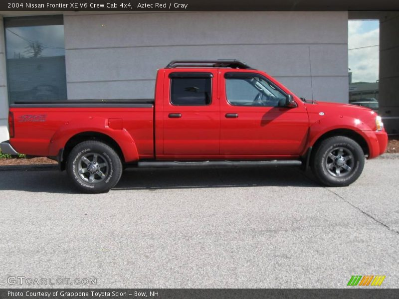 2004 nissan frontier xe v6 crew cab 4x4 in aztec red photo no 13865641. Black Bedroom Furniture Sets. Home Design Ideas