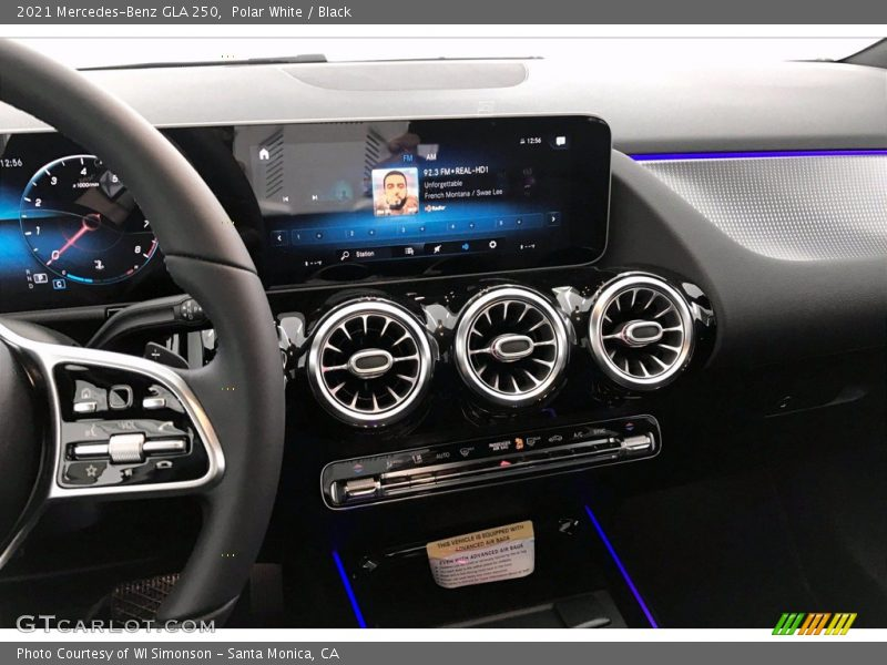 Controls of 2021 GLA 250