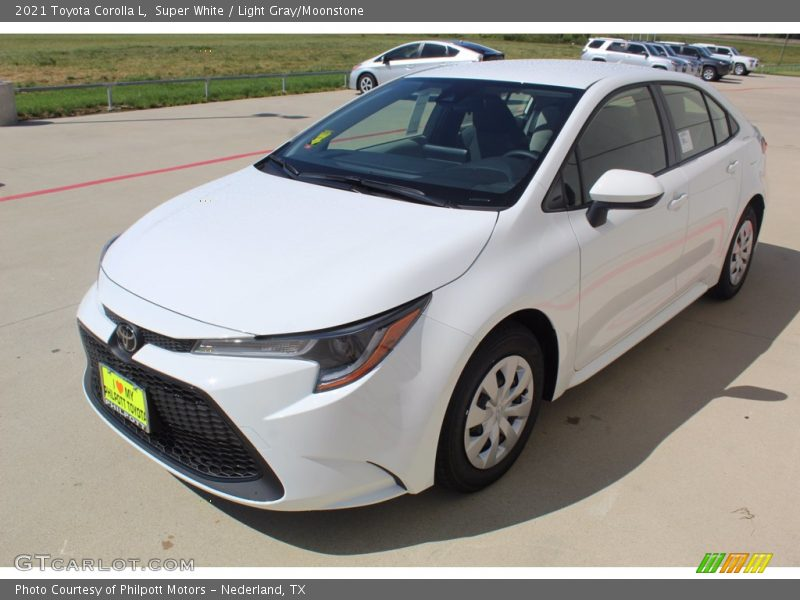 Super White / Light Gray/Moonstone 2021 Toyota Corolla L