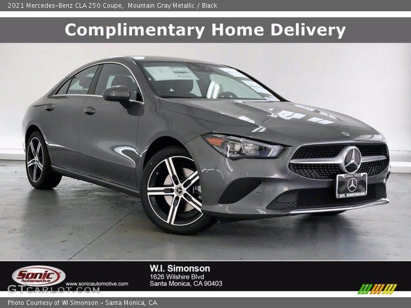 Mountain Gray Metallic / Black 2021 Mercedes-Benz CLA 250 Coupe