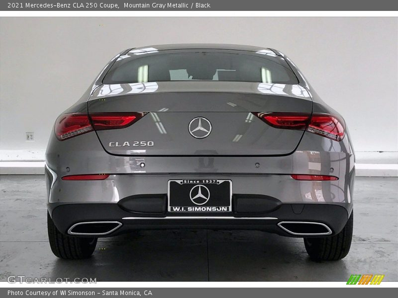 Mountain Gray Metallic / Black 2021 Mercedes-Benz CLA 250 Coupe