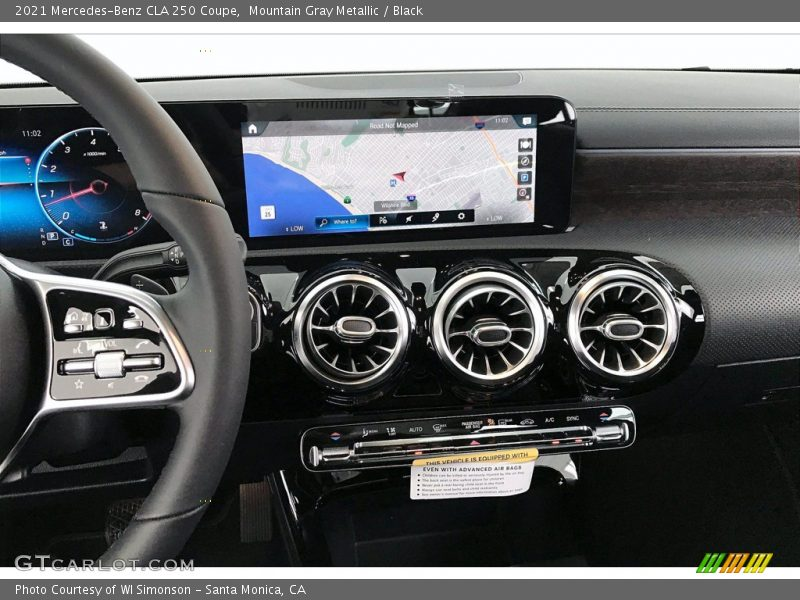 Controls of 2021 CLA 250 Coupe