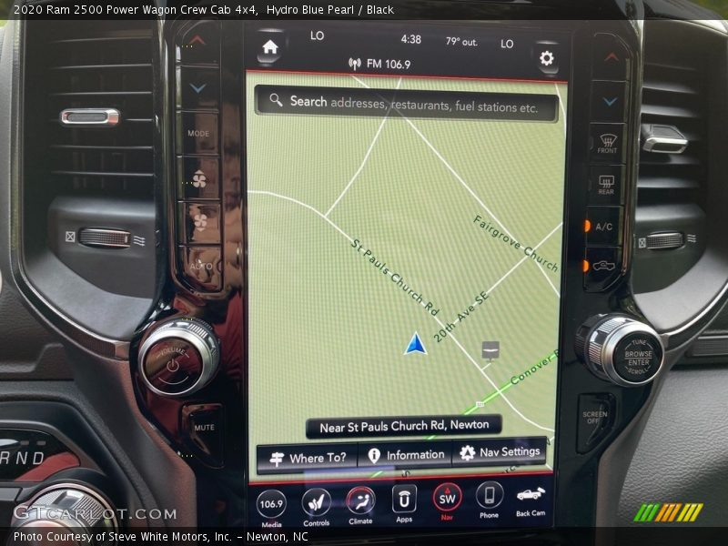 Navigation of 2020 2500 Power Wagon Crew Cab 4x4