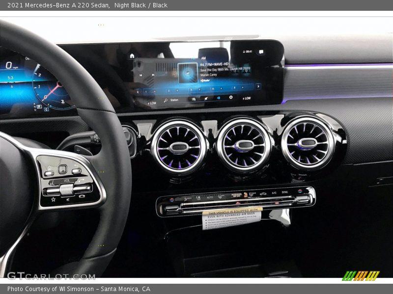 Dashboard of 2021 A 220 Sedan