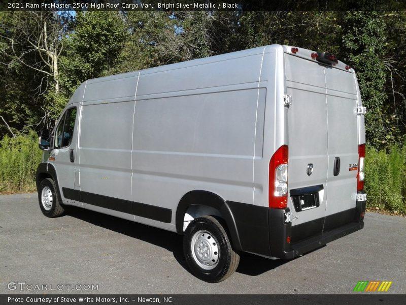 Bright Silver Metallic / Black 2021 Ram ProMaster 2500 High Roof Cargo Van