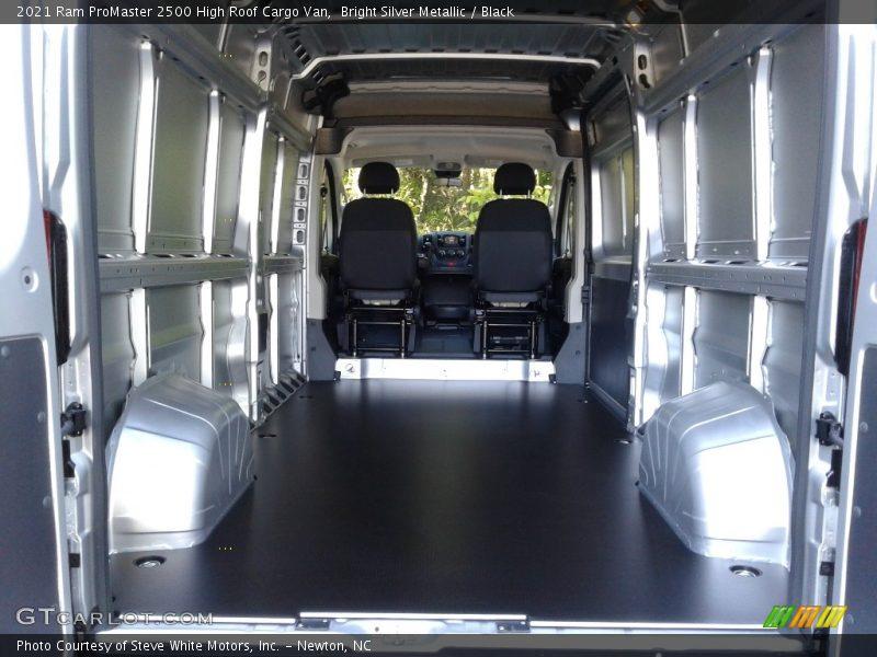 2021 ProMaster 2500 High Roof Cargo Van Trunk