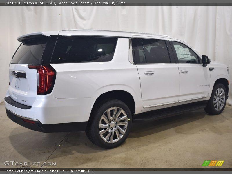 White Frost Tricoat / Dark Walnut/Slate 2021 GMC Yukon XL SLT 4WD