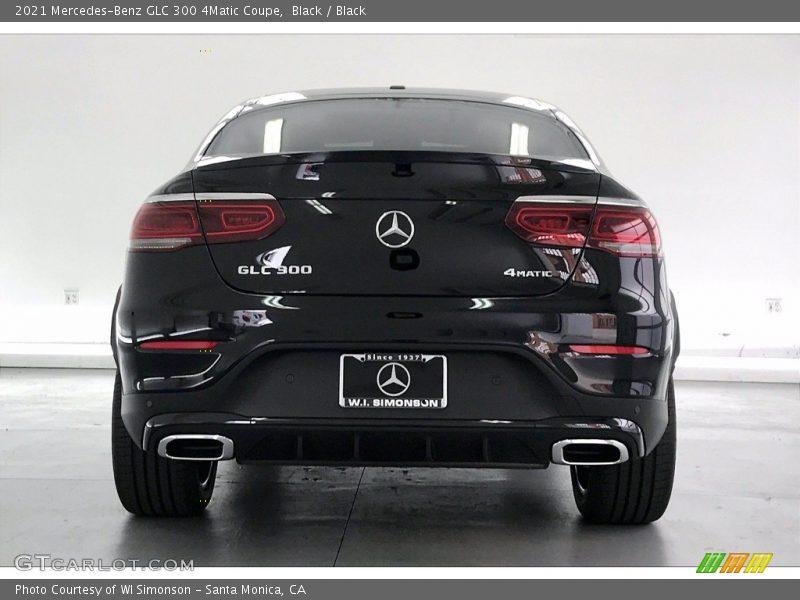 Black / Black 2021 Mercedes-Benz GLC 300 4Matic Coupe