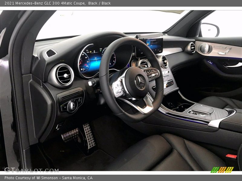 Dashboard of 2021 GLC 300 4Matic Coupe