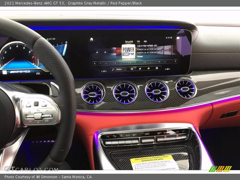 Controls of 2021 AMG GT 53