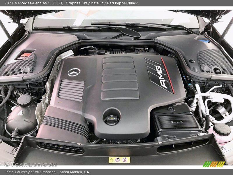 2021 AMG GT 53 Engine - 3.0 Liter AMG Twin-Scroll Turbocharged DOHC 24-Valve VVT Inline 6 Cylinder