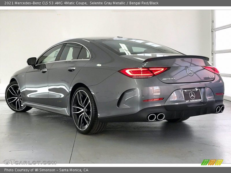 Selenite Gray Metallic / Bengal Red/Black 2021 Mercedes-Benz CLS 53 AMG 4Matic Coupe