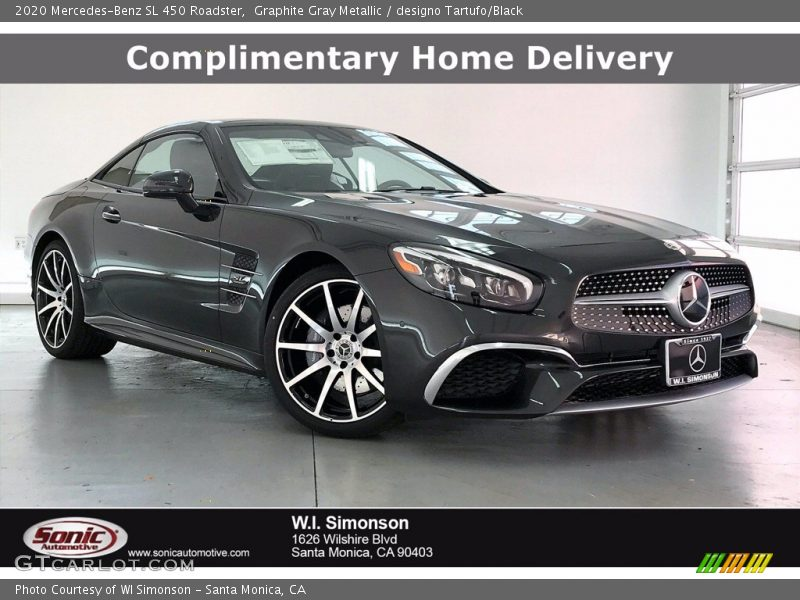 Graphite Gray Metallic / designo Tartufo/Black 2020 Mercedes-Benz SL 450 Roadster