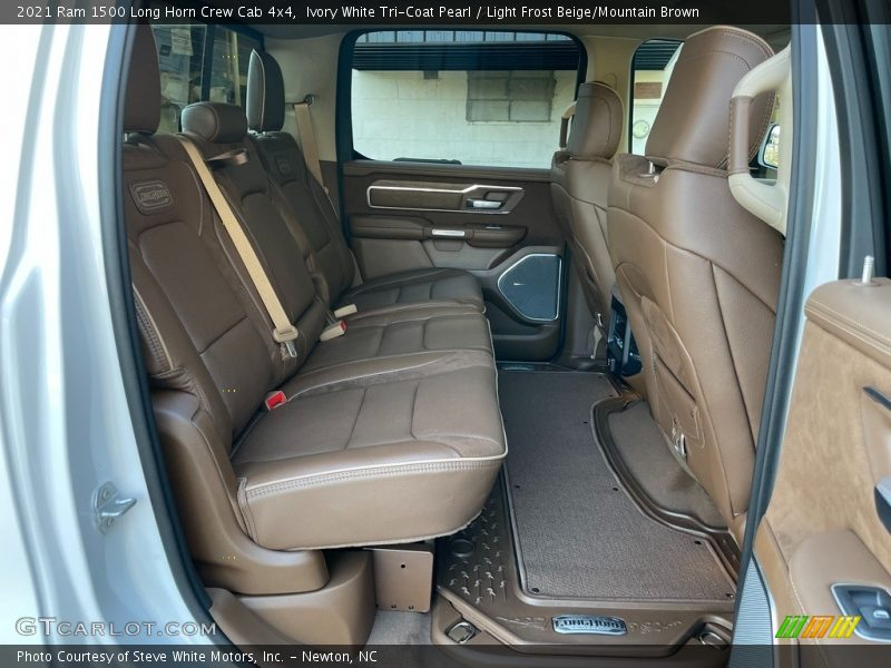 Rear Seat of 2021 1500 Long Horn Crew Cab 4x4
