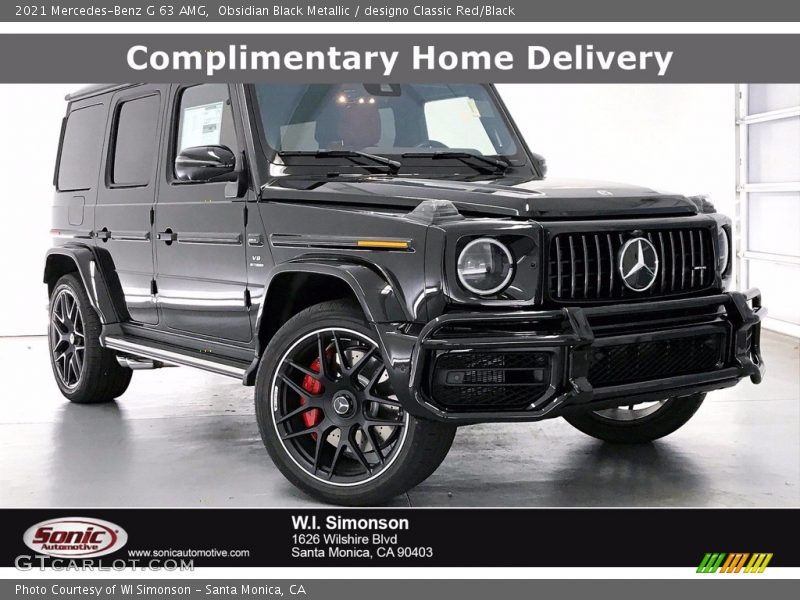 Obsidian Black Metallic / designo Classic Red/Black 2021 Mercedes-Benz G 63 AMG