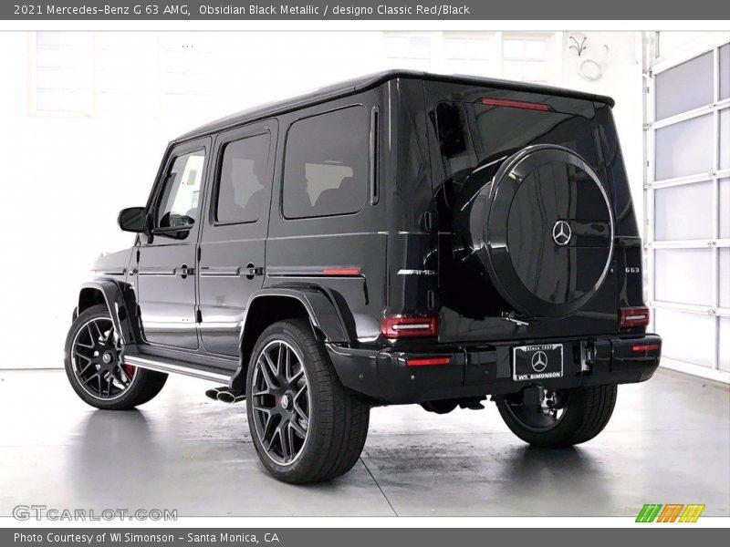 Obsidian Black Metallic / designo Classic Red/Black 2021 Mercedes-Benz G 63 AMG
