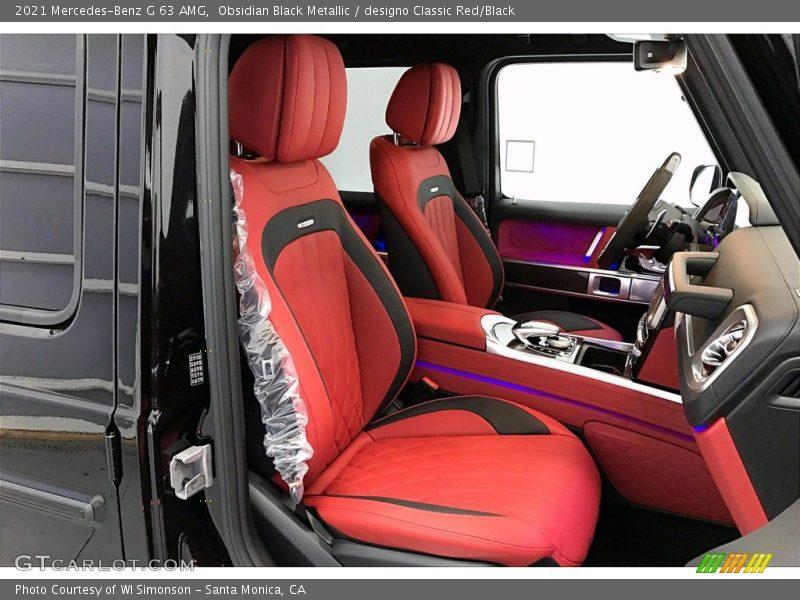 2021 G 63 AMG designo Classic Red/Black Interior