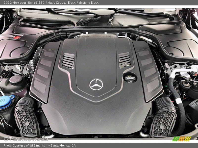 2021 S 560 4Matic Coupe Engine - 4.0 Liter DI biturbo DOHC 32-Valve VVT V8