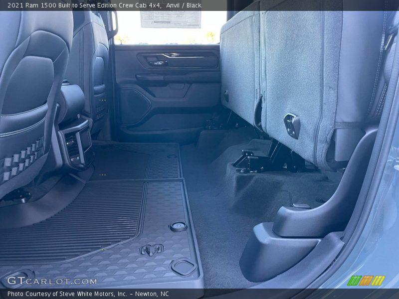 Rear Seat of 2021 1500 Big Horn Crew Cab 4x4